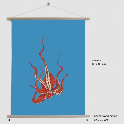 Stitches: Octopus - canvas poster