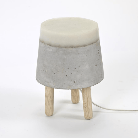 CONCRETE tafel/vloer lamp Small